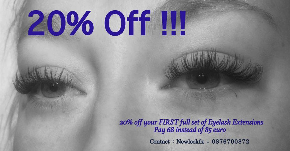 Special OFFER!!!!! Classic Lashes Full set – 20% Off